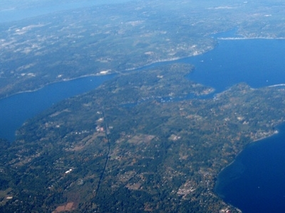 Aerial View Of  Bainbridge  Island And  Agate  Passage In  Olymp