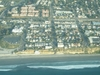 Aerial View Shows Moonlight Beach On The Left Parallel With The