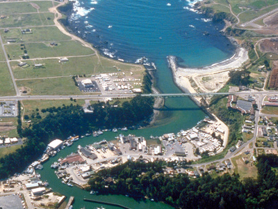 Aerial View Of The Southern Section Of Fort Bragg And The Mouth