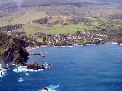 Aerial View Of Hana Maui