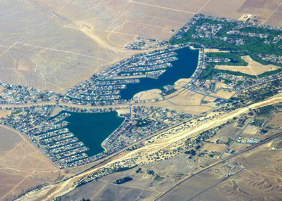 Aerial View Of Helendale California