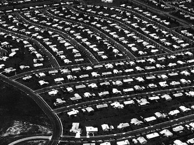 Aerial View Of Levittown Circa