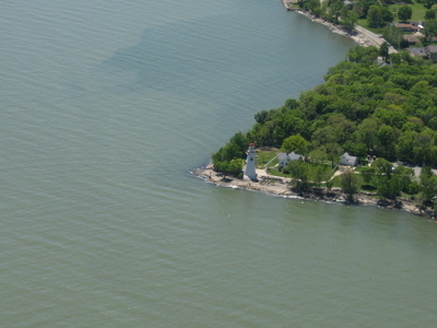 Aerial View Of The Marblehead Lighthouse And Surrounding Parts O