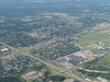 Aerial View Of Vandalia With The Dayton International Airport To