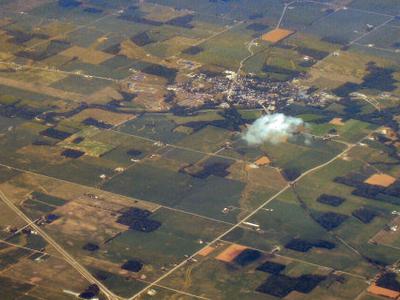 Aerial View Of Warren Facing Northeast