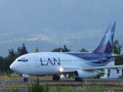 LAN Airplane Leaving Pucon