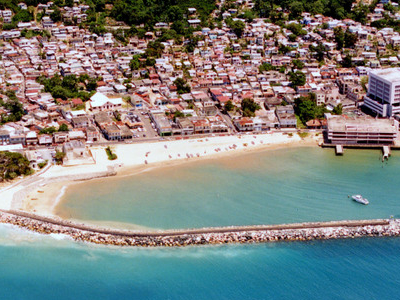 Aerial View Of Downtown Aguadilla