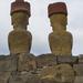 Ahu Nau Nau From Behind - Easter Island