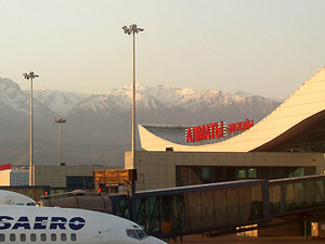 O Aeroporto Internacional de Almaty