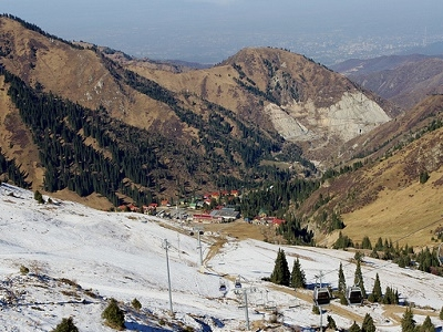 Almaty From Shymbulak In Kazakhstan