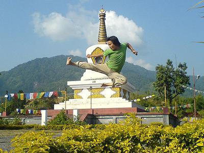 A Man Practising Kung Fu, Itanagar