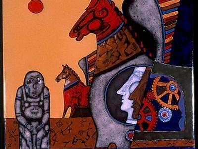 An Art Work In International Enamel Art Workshop And Collection,