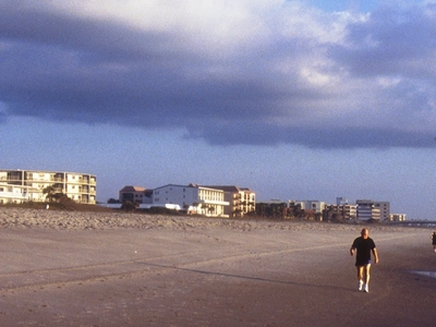 An Empty Cocoa Beach On A Cloudy Day