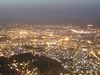 A Night Time Aerial View Of The City