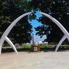 Annadurai Memorial Statue At Marina Beach