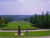 A Panoramic View Of The Lawn In Front Of The Nelson Atkins Museum Of Art