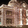 Ashdown Courthouse At Night During Christmas Season