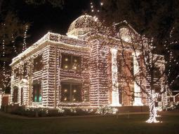Ashdown Courthouse At Night During Christmas Season