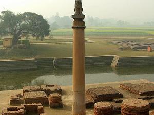 Ashokan pilar en Vaishali