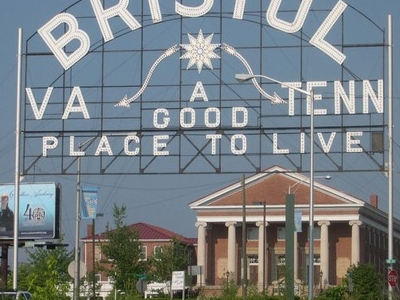 A Sign Welcomes Bristol