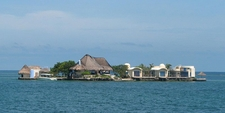 A Small Island That Is Part Of The Rosario Islands, Near Cartagena