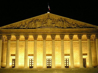 Palais Bourbon Where The National Assembly Meets