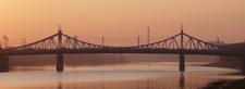 A Suspension Bridge Across The Volga In Tver