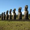 At Ahu Akivi, The Moai Face The Ocean