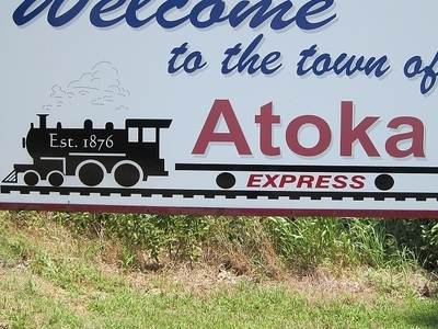 Atoka  Welcome Sign