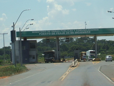 A Toll In Veinticinco De Diciembre By The Entrance Of San Pedro