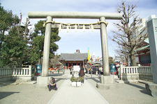 A Torii Leading The Way To Asakusa Shrine