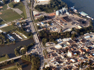 Aurora  Indiana  From  Above