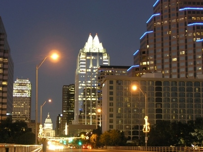 Austin From  Congress  Bridge  At Night