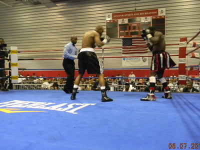 Super Middleweight Boxers At Aviator Arena