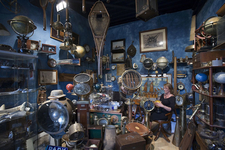 A Vintage Travel Gear Seller At Marché Dauphine
