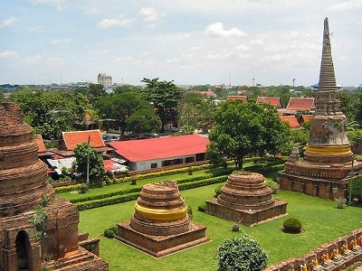 Ayutthaya - Over The Historic Ruins - Thailand