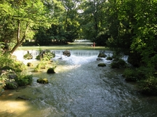 Small Waterfall Of The Eisbach