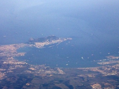 Aerial Photograph Of The  Bay Of  Gibraltar
