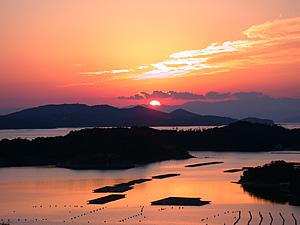 Sun Setting Over Ago Bay