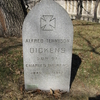 The Grave Of Alfred Dickens In Trinity Church Cemetery