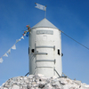 Aljaž Tower At The Top Of The Mountain