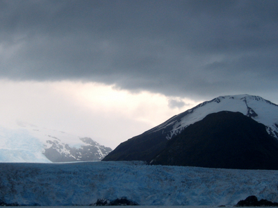 Amalia Glacier With Reclus Behind
