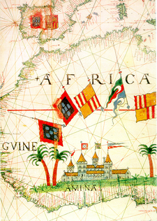 16th Century Map Of African Coast, Showing \\\