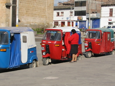 Mototaxis On The Central Square