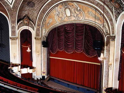 Main Stage And Curtain At Sioux City Orpheum