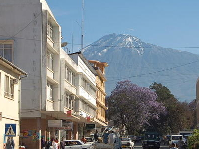 The City Of Arusha With Mount Meru