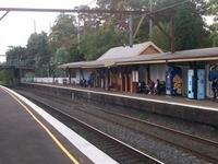Asquith la estación de tren