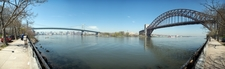 A Panorama Of The Hell Gate Bridge