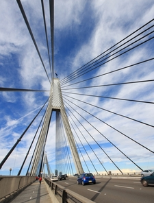 Anzac Bridge Pylons And Cables