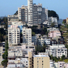 A View Of Lombard Street And Russian Hill